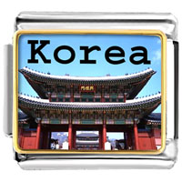 Italian Charms - golden italian charm bracelet plated landmark korea temple photo photo italian charm Image.