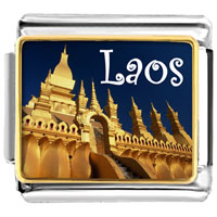 Items from KS - golden italian charm bracelet plated travel that luang photo photo italian charm Image.