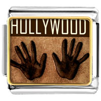 Italian Charms - golden italian charm bracelet plated travel hollywood photo photo italian charm Image.