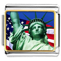 Statue Of Liberty Photo 9 Mm Italian Charms For Bracelets