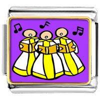 Italian Charms - golden italian charm bracelet plated religion christian church choir photo photo italian charm Image.