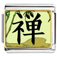 Italian Charms - bracelet golden italian charm plated religion buddhism chan photo photo italian charm Image.