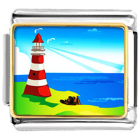 Travel Culture Lighthouse Photo 9 Mm Italian Charms For Bracelets