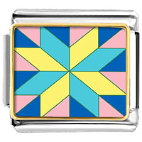 Italian Charms - multi color geometric figure photo italian charm Image.