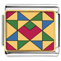 Italian Charms - multicolor geometric figure photo italian charm Image.