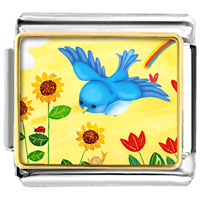 Bird Photo Italian Charms Links For Bracelets
