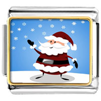 Italian Charms - cute siam christmas santa photo charm italian photo italian charm Image.