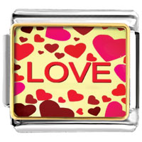 Italian Charms - colorful different sized hearts love photo word &  phases italian charms photo italian charm Image.