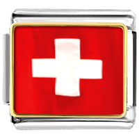 Italian Charms - flag of switzerland sports italian charms bracelet link photo italian charm Image.