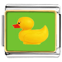 Italian Charms - animal photo rubber duckie italian charms bracelet link photo italian charm Image.