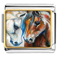 Horses Animal Photo Italian Charm