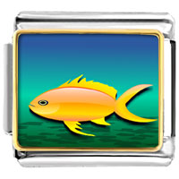 - yellow fish in blue ocean photo italian charm Image.