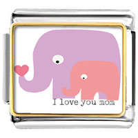 - i love you mom elephant mother child photo italian charm Image.