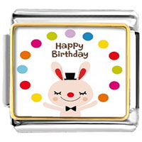- happy birthday cute rabbit photo italian charm Image.