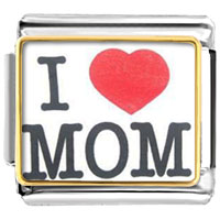 Pugster Gift Center - i love mom red heart photo italian charm Image.