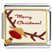 - christmas gift merry cute deer photo italian charm Image.