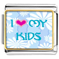 I Heart My Kids Italian Charm Bracelet