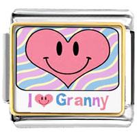 Italian Charms - heart i love granny photo charm italian photo italian charm Image.