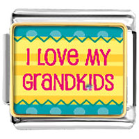 I Love My Grandkids Italian Charms