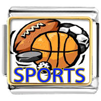 Italian Charms - sports basketball football soccer photo hobbies &  professions italian charm bracelet photo italian charm Image.