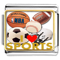 Italian Charms - various balls love sports photo hobbies &  professions italian charm photo italian charm Image.