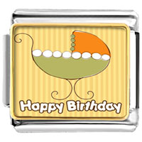 Italian Charms - baby carriage happy birthday photo celebration italian charms photo italian charm Image.