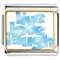 Italian Charms - sky blue live love laugh photo word &  phases italian charms photo italian charm Image.