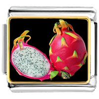 Italian Charms - anti cancer superfruits dragon photo italian charm Image.