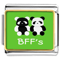 - cute bff' s panda photo italian charm Image.