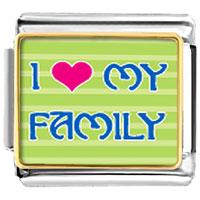 I Heart My Family Italian Charm Bracelet