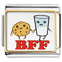 - cute biscuit milk bff photo italian charm Image.