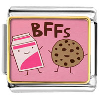 - cute biscuit milk bffs photo italian charm Image.