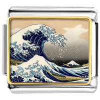 - beneath the wave off kanagawa photo italian charm Image.