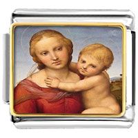 - the small cowper madonna photo italian charm Image.