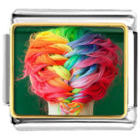 - colorful girl' s braid photo italian charm Image.