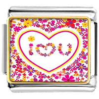 Italian Charms - i love you photo charm photo italian charm Image.