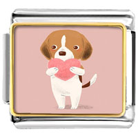 Italian Charms - cute pet love photo charm photo italian charm Image.