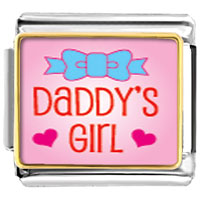 Daddy S Girl Italian Charms Bracelet Link
