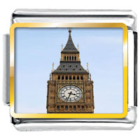 Pugster Gift Center - silver tone big ben photo charm photo italian charm Image.