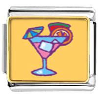 Italian Charms - mixed drink food italian charms bracelet link photo italian charm Image.
