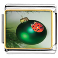 Italian Charms - ladybug ornament christmas italian charms bracelet link photo italian charm Image.