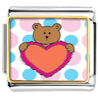 Italian Charms - valentine teddy bear italian charms photo italian charm Image.