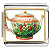 Italian Charms - flower teapot food italian charms bracelet link photo italian charm Image.