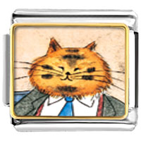 Italian Charms - business cat animal photo italian charms bracelet link Image.