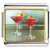 Italian Charms - tropical martini food italian charm bracelet bracelet link photo italian charm Image.