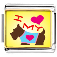 Italian Charms - i heart my dog italian charm bracelet photo italian charm Image.