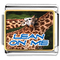 Italian Charms - animal photo lean on me animals italian charms bracelet link photo italian charm Image.