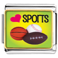 Items from KS - heart sports photo italian charm bracelet Image.