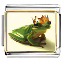 Italian Charms - frog prince animal photo italian charms bracelet link Image.