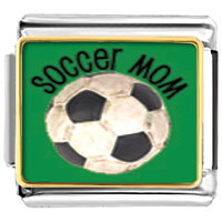 Italian Charms - soccer mom sports italian charms bracelet link photo italian charm Image.